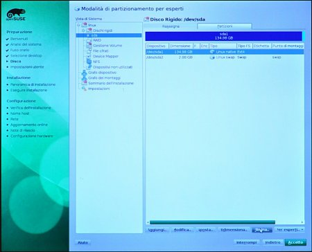 Come installare Opensuse 11.3 - How to install Opensuse 11.3-12_partitioner_04.jpg