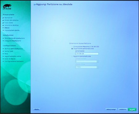 Come installare Opensuse 11.3 - How to install Opensuse 11.3-16_partitioner_08.jpg
