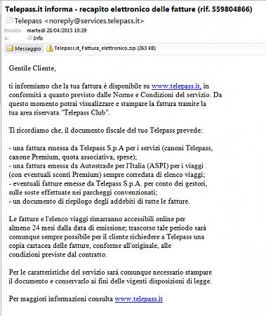 Segnalazioni spam/malware relative Enti o associazioni.-telepass.png