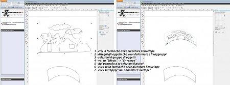 Corel draw inserire oggetto su tracciato-envelope.jpg