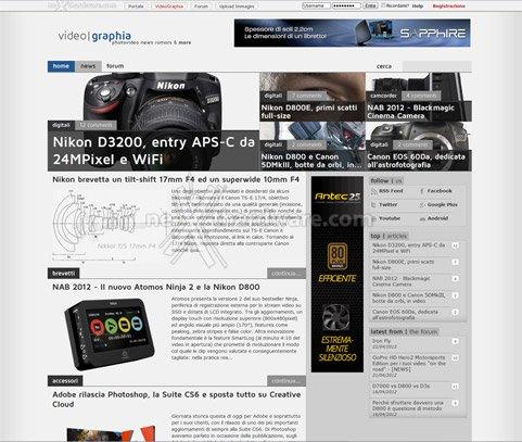 Breaking news - nasce videographia.it, il portale dedicato al mondo fotovideo