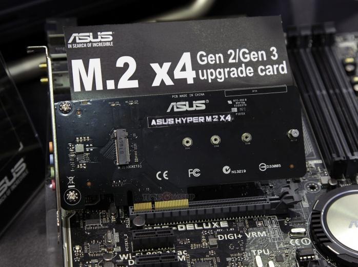 ASUS svela l'adattatore Hyper M.2 X4  1
