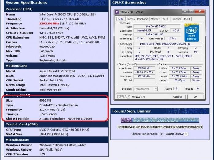 WR di frequenza per le ADATA XPG Z1 DDR4 3333 Gold Edition 2