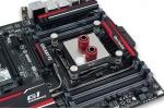 Il muovo waterblock � altamente ottimizzato per raffreddare al meglio i processori Haswell-E.