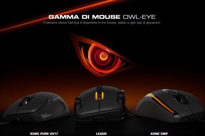 Il sensore Owl-eye arma tre nuovi mouse ROCCAT 1