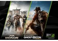 In omaggio un codice di For Honor o Tom Clancy's Ghost Recon Wildlands con l'acquisto di una GeForce GTX 1080 o GTX 1070.