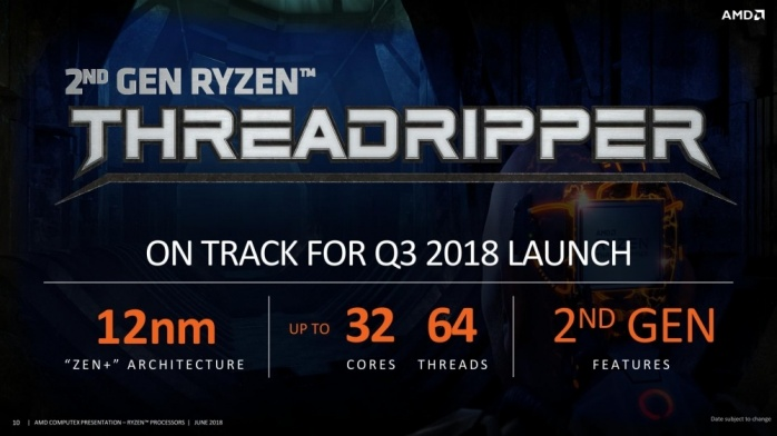 AMD mostra i Ryzen Threadripper 2 3