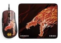 Livrea aggressiva per un'edizione limitata dell'iconico mouse Rival 310 ed il performante tappetino QcK+.