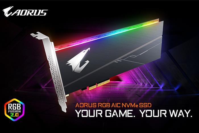 GIGABYTE presenta gli SSD AORUS RGB NVMe 3