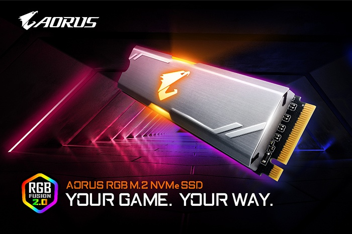GIGABYTE presenta gli SSD AORUS RGB NVMe 1