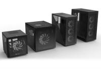 Design minimale ed un inedito pannello laterale per far respirare meglio la scheda video in verticale.