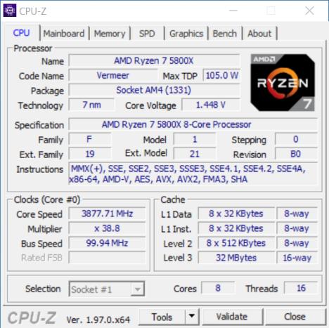 CPUID rilascia CPU-Z 1.97 1