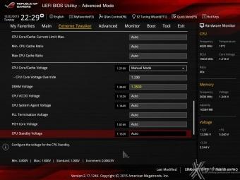 ASUS MAXIMUS VIII IMPACT 8. UEFI BIOS - Extreme Tweaker 6