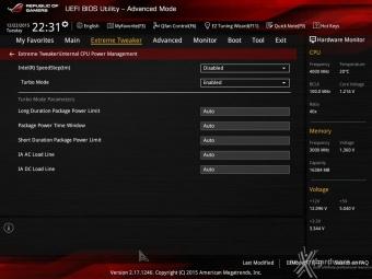 ASUS MAXIMUS VIII IMPACT 8. UEFI BIOS - Extreme Tweaker 10