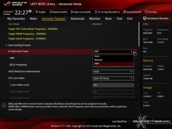 ASUS MAXIMUS VIII IMPACT 8. UEFI BIOS - Extreme Tweaker 1