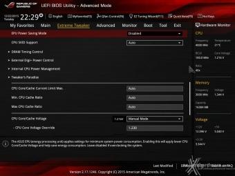 ASUS MAXIMUS VIII IMPACT 8. UEFI BIOS - Extreme Tweaker 5