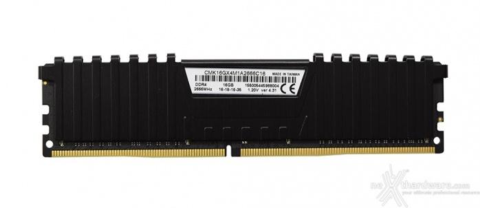 Corsair Vengeance DDR4 LPX 2666MHz 16GB x 2 2. Presentazione delle memorie 3