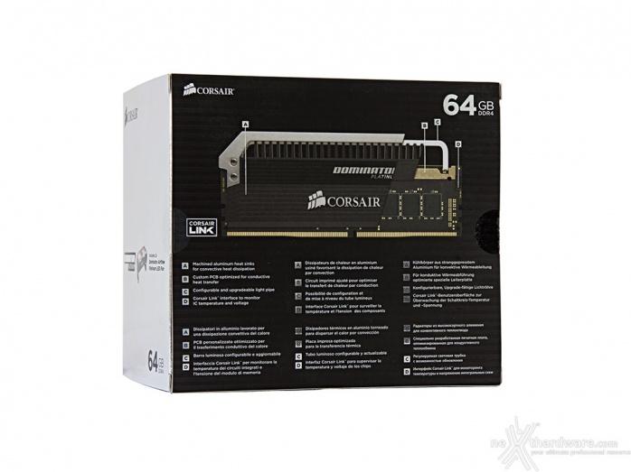 Corsair Dominator Platinum DDR4 3200MHz 64GB 1. Packaging & Bundle 2