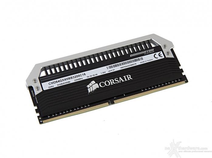 Corsair Dominator Platinum DDR4 3200MHz 64GB 3. Presentazione delle memorie 3
