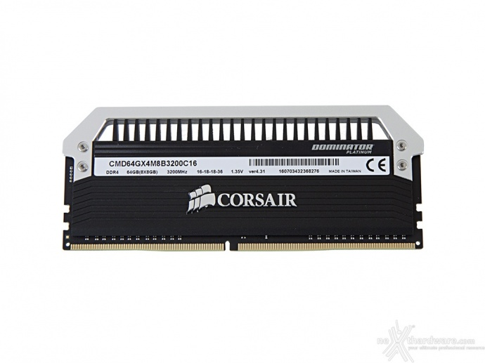 Corsair Dominator Platinum DDR4 3200MHz 64GB 4. Specifiche tecniche e SPD 1