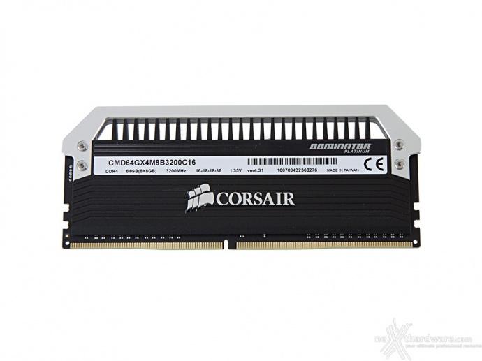 Corsair Dominator Platinum DDR4 3200MHz 64GB 4. Specifiche tecniche e SPD 1