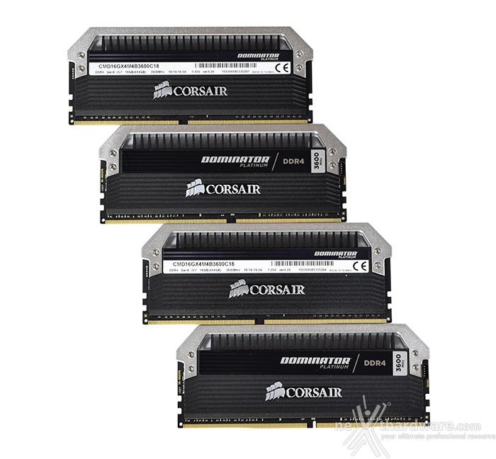 Corsair Dominator Platinum DDR4 3600MHz 16GB 3. Presentazione delle memorie 1