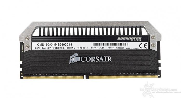 Corsair Dominator Platinum DDR4 3600MHz 16GB 3. Presentazione delle memorie 3