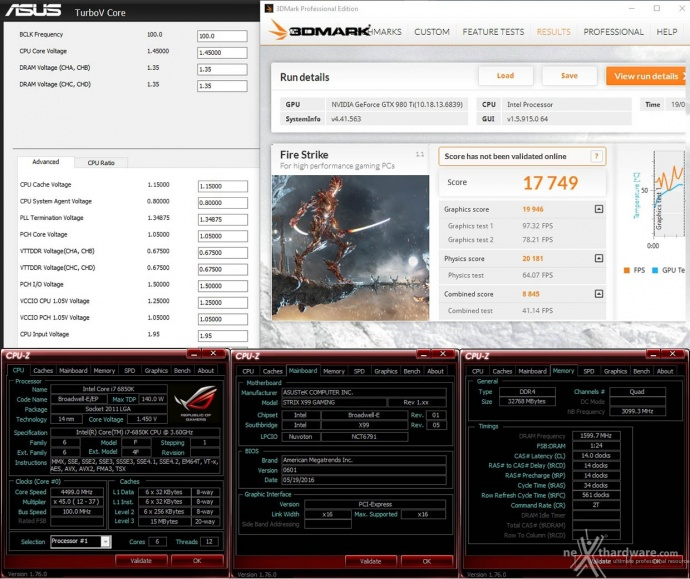 ASUS ROG STRIX X99 GAMING 16. Overclock 2