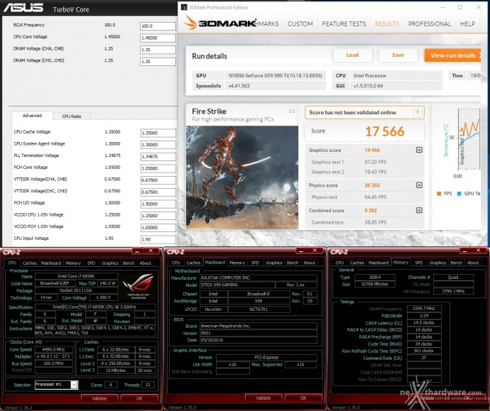 ASUS ROG STRIX X99 GAMING 16. Overclock 3