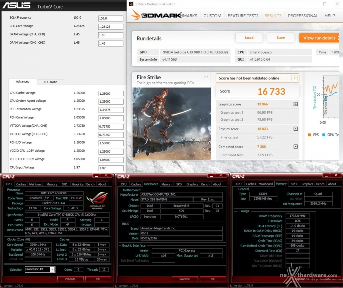 ASUS ROG STRIX X99 GAMING 16. Overclock 4
