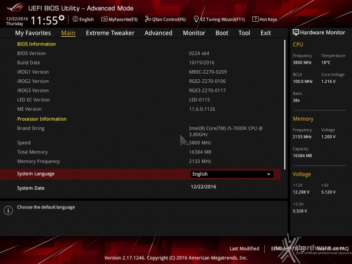 ASUS ROG MAXIMUS IX CODE 7. UEFI BIOS  -  Impostazioni generali 2