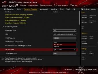 ASUS ROG MAXIMUS IX CODE 8. UEFI BIOS - Extreme Tweaker 1