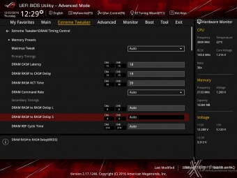 ASUS ROG MAXIMUS IX CODE 8. UEFI BIOS - Extreme Tweaker 14