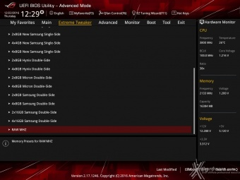 ASUS ROG MAXIMUS IX CODE 8. UEFI BIOS - Extreme Tweaker 19