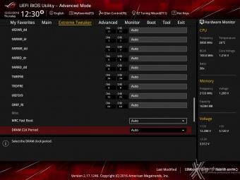 ASUS ROG MAXIMUS IX CODE 8. UEFI BIOS - Extreme Tweaker 16