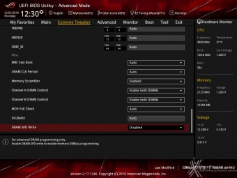 ASUS ROG MAXIMUS IX CODE 8. UEFI BIOS - Extreme Tweaker 17