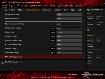 ASUS ROG MAXIMUS IX CODE 8. UEFI BIOS - Extreme Tweaker 5