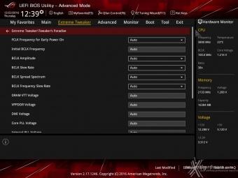 ASUS ROG MAXIMUS IX CODE 8. UEFI BIOS - Extreme Tweaker 12