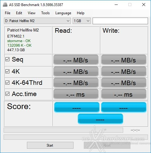 Patriot Hellfire M.2 NVMe 480GB 12. AS SSD Benchmark 1