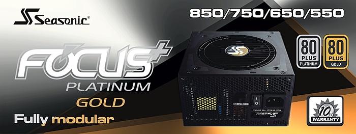 Seasonic FOCUS Plus 850W Platinum & 750W Gold 1