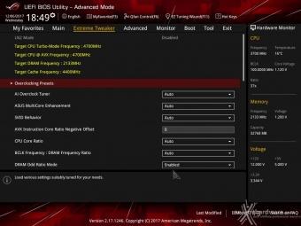 ASUS ROG MAXIMUS X FORMULA 8. UEFI BIOS - Extreme Tweaker 1