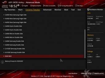 ASUS ROG MAXIMUS X FORMULA 8. UEFI BIOS - Extreme Tweaker 22