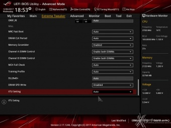 ASUS ROG MAXIMUS X FORMULA 8. UEFI BIOS - Extreme Tweaker 18