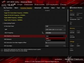 ASUS ROG MAXIMUS X FORMULA 8. UEFI BIOS - Extreme Tweaker 4