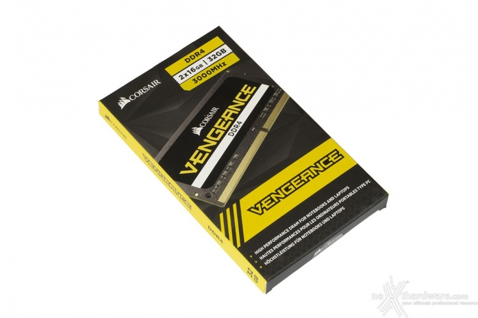 CORSAIR VENGEANCE SODIMM DDR4 3000MHz 64GB 1. Packaging & Bundle 2