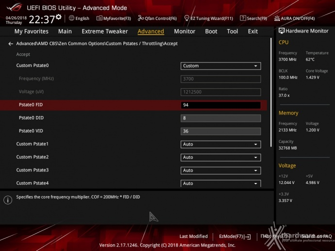 ASUS ROG CROSSHAIR VII HERO (Wi-Fi) 8. UEFI BIOS - Impostazioni generali 14