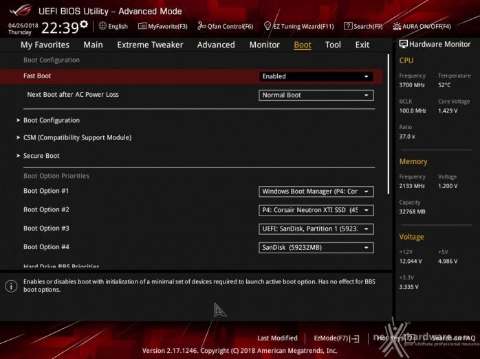 ASUS ROG CROSSHAIR VII HERO (Wi-Fi) 8. UEFI BIOS - Impostazioni generali 8