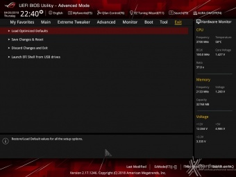 ASUS ROG CROSSHAIR VII HERO (Wi-Fi) 8. UEFI BIOS - Impostazioni generali 22