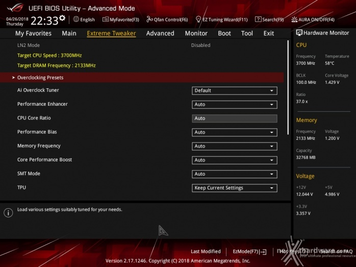 ASUS ROG CROSSHAIR VII HERO (Wi-Fi) 8. UEFI BIOS - Impostazioni generali 6
