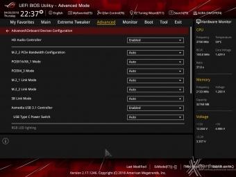 ASUS ROG CROSSHAIR VII HERO (Wi-Fi) 8. UEFI BIOS - Impostazioni generali 17
